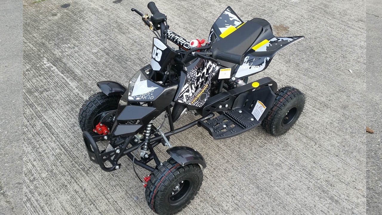 repti 50cc mini quad atv pocket bike review nitro motors youtube. Black Bedroom Furniture Sets. Home Design Ideas
