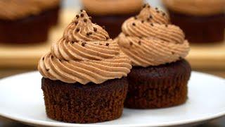 Просто и очень вкусно! Шоколадные капкейки | Кулинарим с Таней