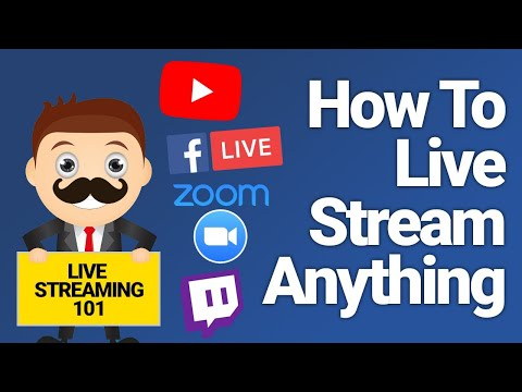 How To Live Stream Anything - Multiple People, Music, Conferences: Beginners Setup
