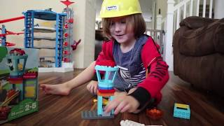 FUN WITH LEGO DUPLO AIRPORT SET and construction pretend play