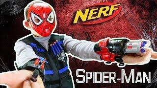 Обзор и распаковка Нёрф Человек паук // Nerf Spider Man