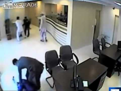 CCTV - Rs1 2 million bank robbery in Karachi