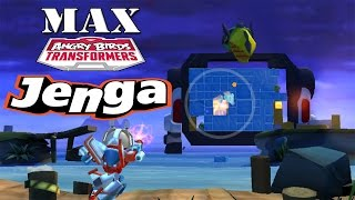 Angry Birds Transformers - Jenga Mode All Characters MAX Level Gameplay #20