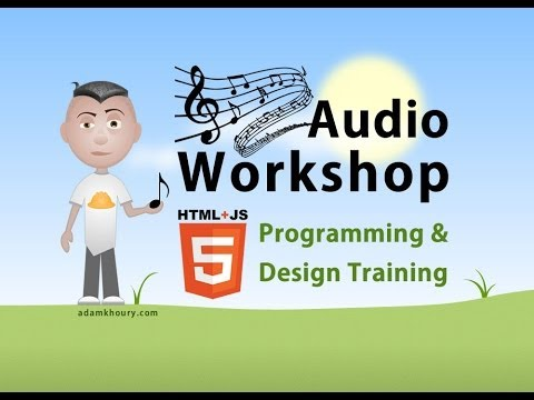 Audio Workshop 1 Play Pause Mute Buttons JavaScript Tutorial