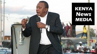 Uhuru Kenyatta Road Side Address Kitengela Residents on way to Arusha!!!