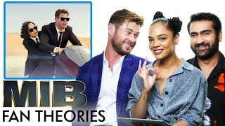 Men in Black Fan Theories with Chris Hemsworth, Tessa Thompson and Kumail Nanjiani | Vanity Fair