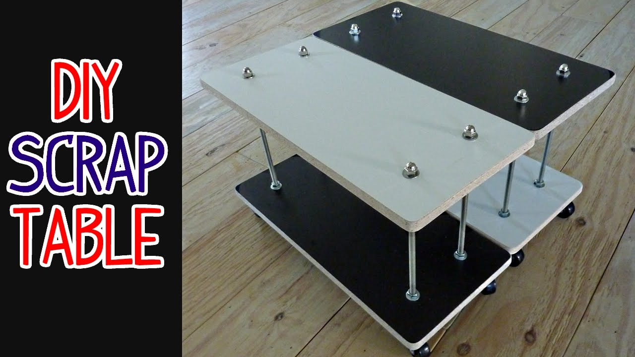 Incroyable Easy DIY Scrap Wood + Threaded Rod Table