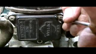 NISSAN MISSFIRE REPAIR,AIRFLOW METER REPLACMENT