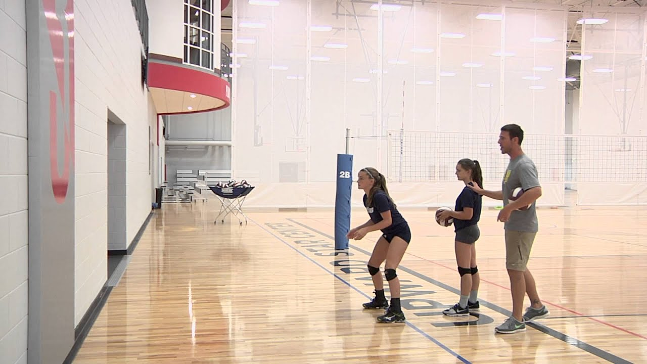 Wall Passing Volleyball Drill Youtube