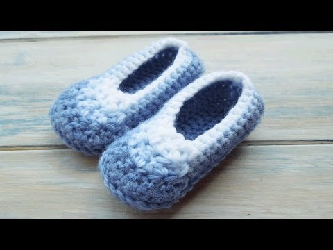 Crochet) How To - Crochet Simple Newborn Baby Booties - YouTube