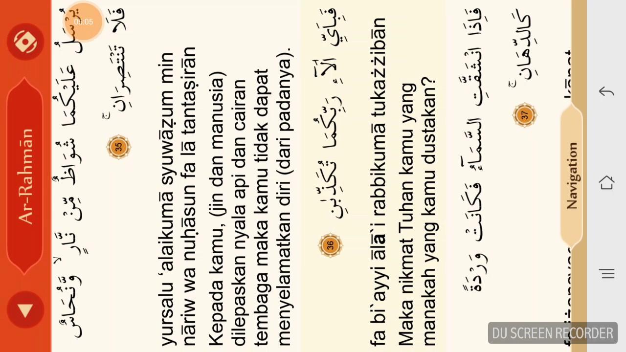 Ar Rahman Muhammad Thoha Latin Plus Arab