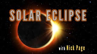 How to photograph the solar eclipse with Nick Page