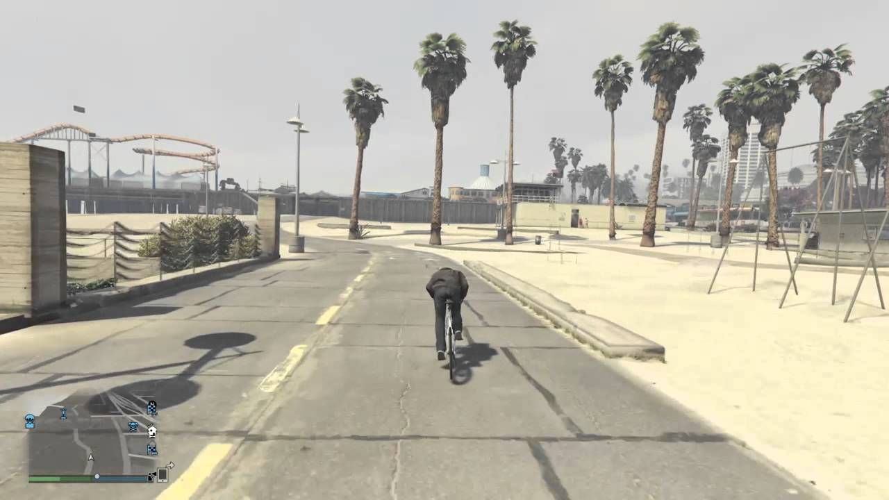 Grand Theft Auto V Online Cardio On Venice Beach Bike Path Youtube