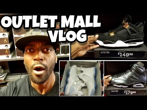 🔥 NIKE OUTLET MALL VLOG🔥 JORDANS 4 ROYALTY & JORDAN 6 ALL STAR UNDER RETAIL!!