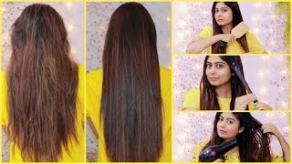 KERATIN TREATMENT At Home for Straight Smooth Shiny Hair | Using Natural Ingredients | 100% Result