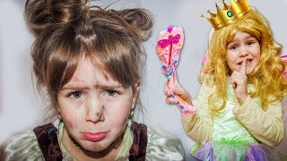 Яна как ЗОЛУШКА  Yana as Cinderella Funny kids story
