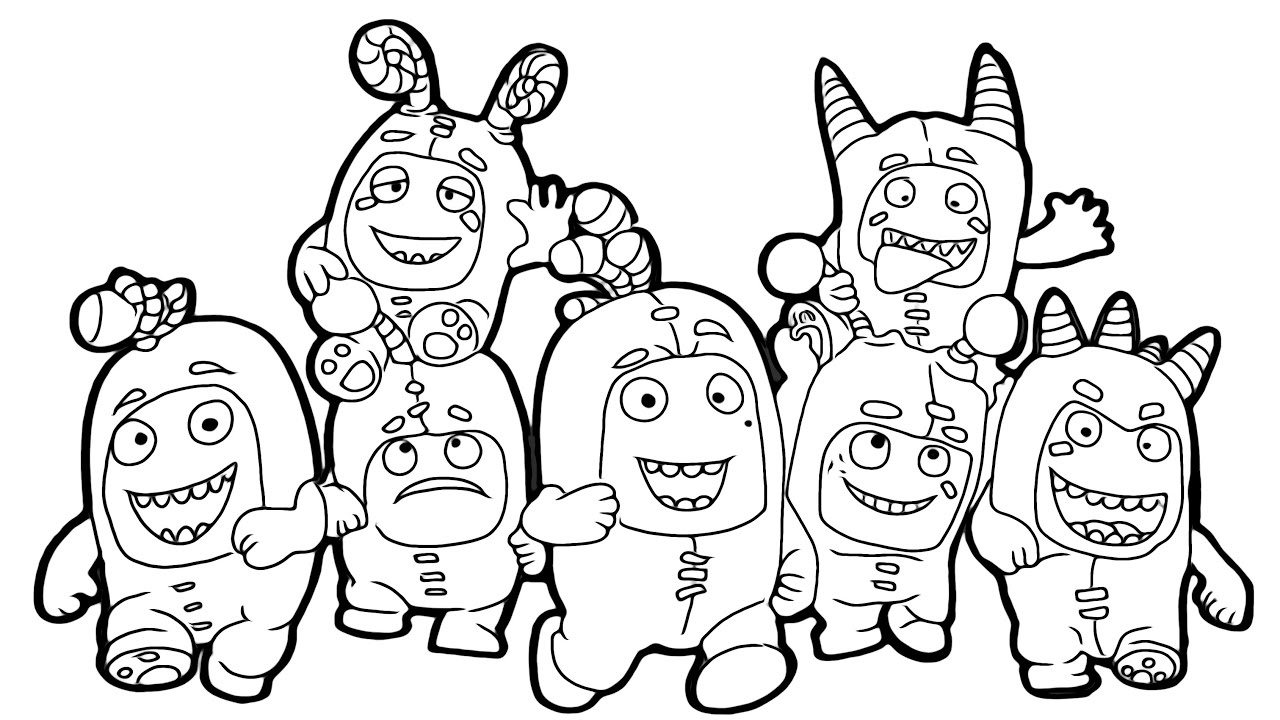 Magical coloring box   Oddbods Coloringpages - YouTube