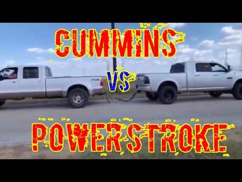Powerstroke VS Cummins! Tug Of War!