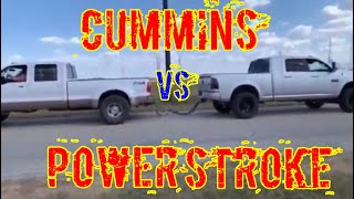 Powerstroke VS Cummins! Tug Of War!