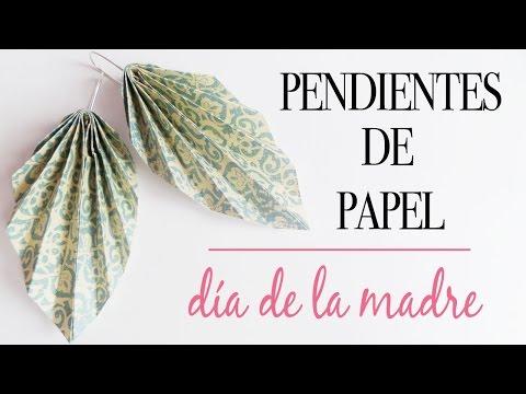 Pendientes de papel l Tutorial paso a paso l Regalo Día de la Madre | CON P DE PAPEL