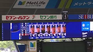 埼玉西武ライオンズ対中日ドラゴンズ メットライフドーム 2018.6...