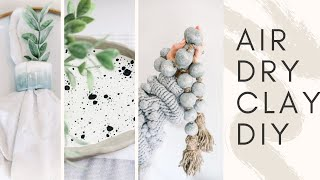 POTTERY BARN DUPE DIY HOME DECOR || AIR DRY CLAY HOME DECOR