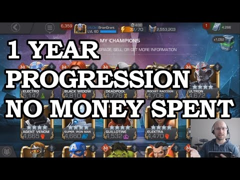 1 Year Progression - FREE 2 PLAY | Marvel Contest of Champions
