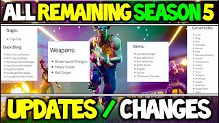 Entire Of Season 5 LEAKED?! All upcoming Updates leading to Season 6?! | Fortnite Battle Royale