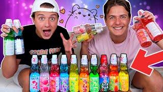 Vi Smager Mærkelige Sodavand Fra JAPAN!!