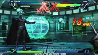 UMVC3: Mr. Sparkle vs Alex - Round Robin - LOST IN SPACE 003