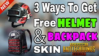 HOW TO GET FREE HELMET AND BACKPACK SKIN IN PUBG MOBILE || get free helmet or backpack skin-SR GAMER
