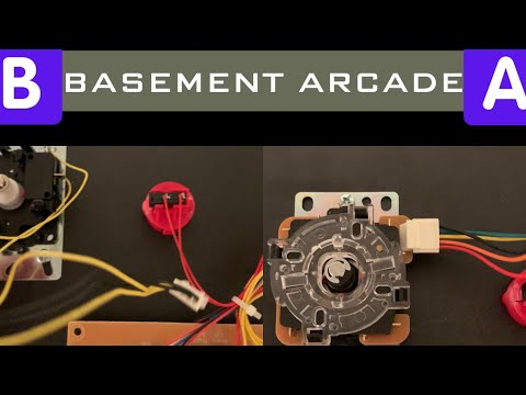 Galaga Joystick Replacement Arcade1Up 👾🕹 - The BASEMENT Arcade from Seaneleous
