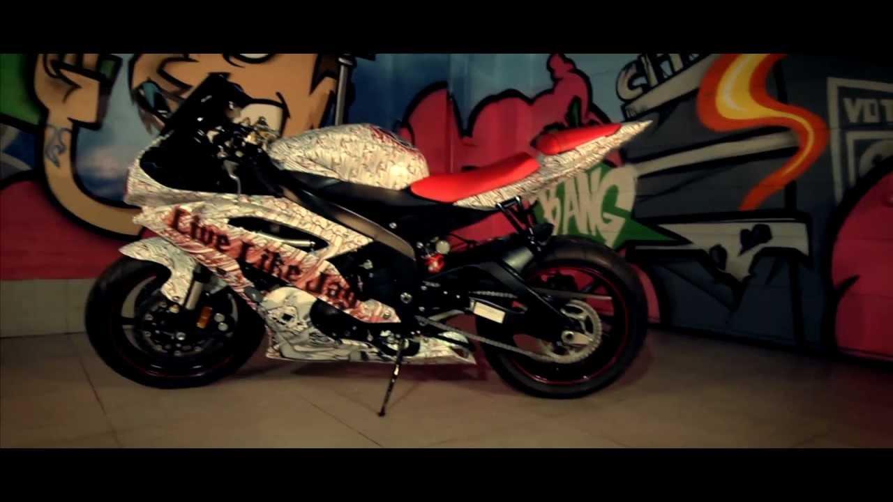 Process Wrap Yamaha R6 By Vinyl Dept Youtube