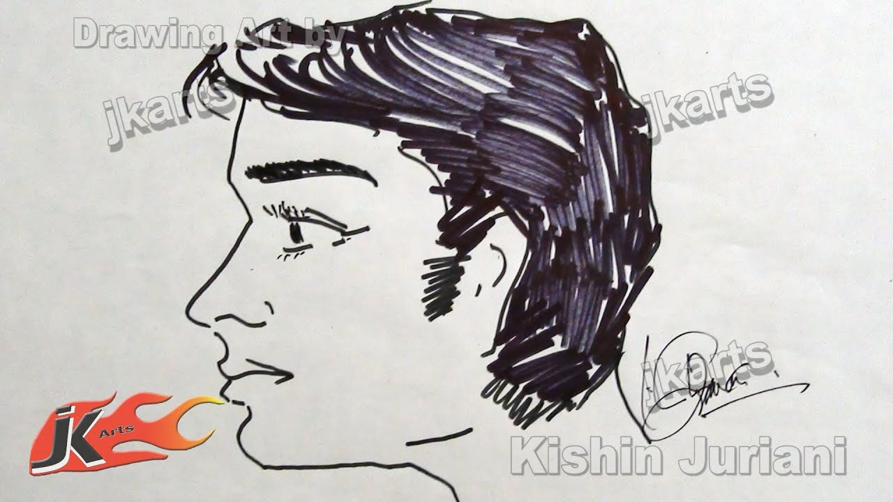diy human side profile male face how to draw jk arts 189 youtube