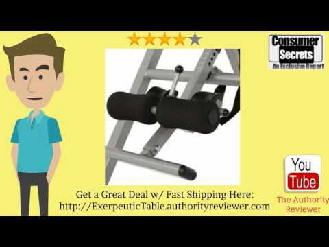 Thumbnail for Review Of The Exerpeutic Inversion Table with Comfort Foam Backrest