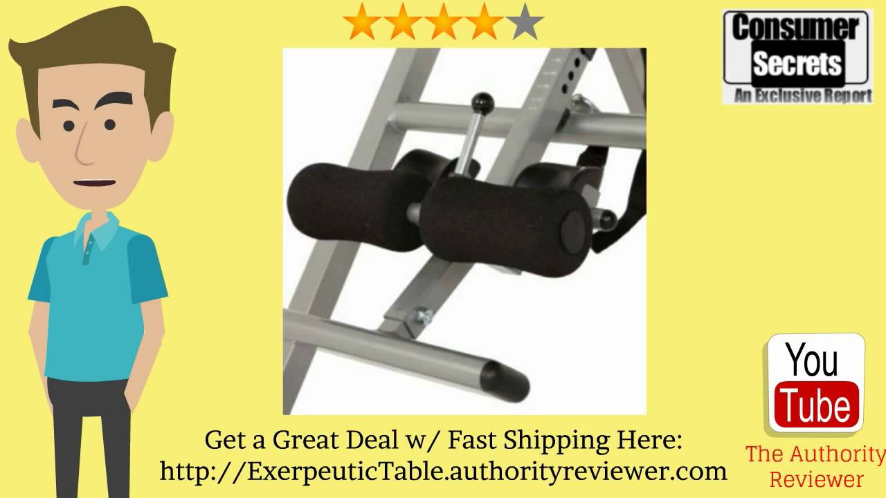 review sale exerpeutic inversion table with comfort foam backrest rh youtube com