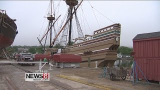 Mayflower II begins journey to Plymouth, MA