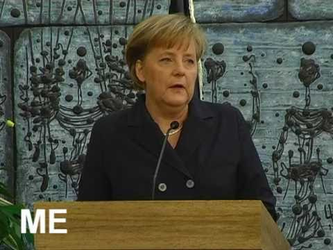 Angela Dorothea Merkel Chancellor of Germany-in Israel