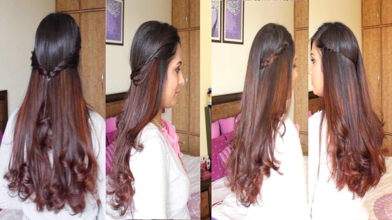 4 Simple & Easy DIY Hairstyles Hairstyle Tutorial YouTube