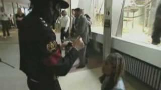 Michael Jackson comforts a fan