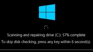 How to Disable Startup Check Disk Scan in Windows 10,8.1,7