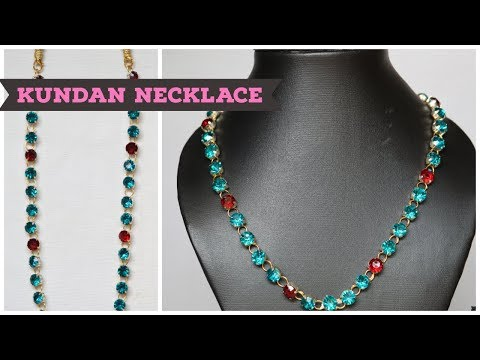 how-to-make-designer-kundan-choker-at-home||latest-jewellery||party-ware-necklace..!