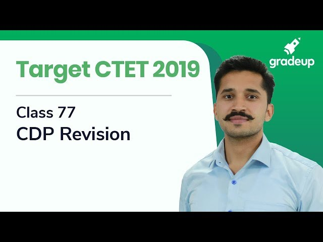 CDP Revision Class for CTET 2019 By Ajay Singh Kharb | Class 77