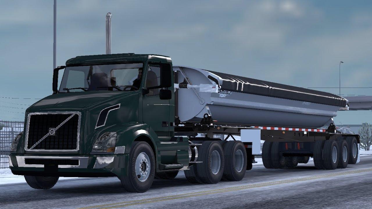 [1 33] American Truck Simulator | Smithco Side Dump Ownable Trailer | Mods