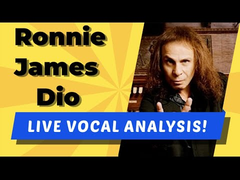 Ronnie James Dio LIVE Vocal Analysis!  (Don't Talk to Strangers)