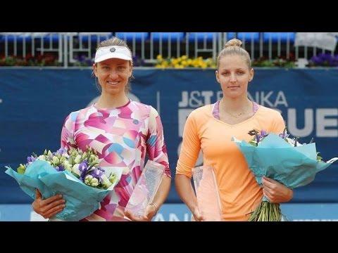Kristýna Plíšková - Mona Barthel J&T Banka Prague Open 2017 finále dvouhry