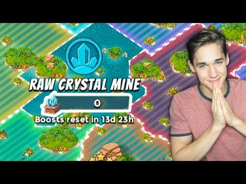 Hacking And WASTING Jimmy's RAW Crystals In Boom Beach!