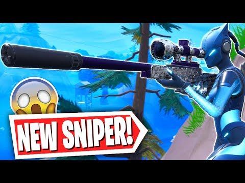 Fortnite *NEW* Suppressed Sniper INSANE Win! (Fortnite: Battle Royale Silenced Sniper Gameplay)