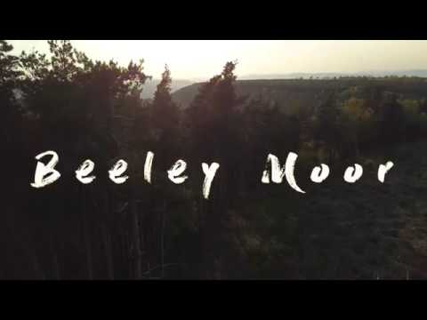 Aerial footage of Beeley Moor in Derbyshire