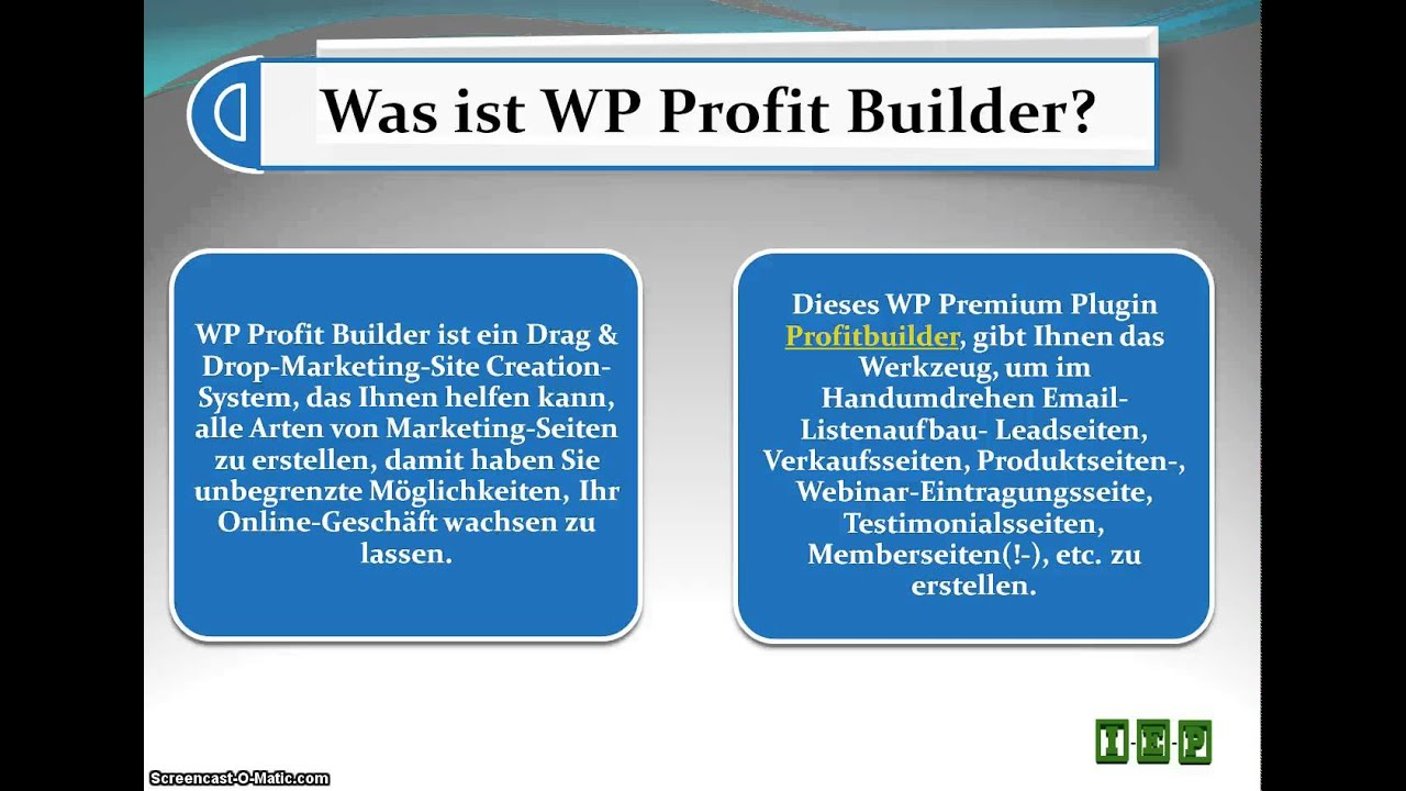 Profit Builder Deutsch